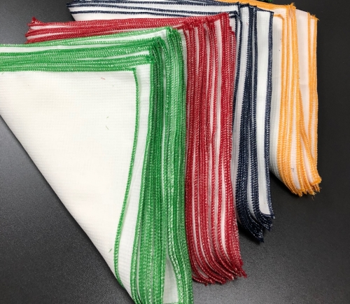 Хлопчатобумажная тряпочки 4 штуки: красная, синяя, желтая, зеленая