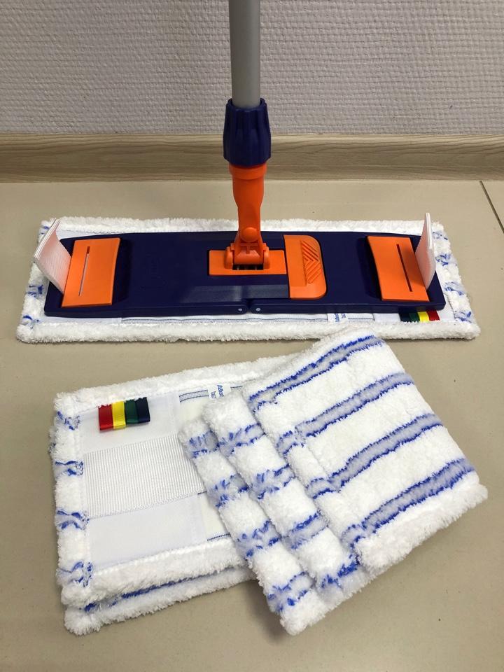 Швабра для мытья полов с отжимом с флаундером 40 см для профессиональной уборки