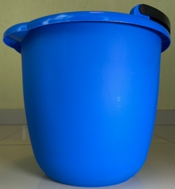 Ведро синее пластиковое