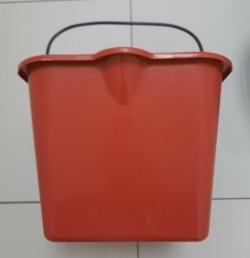 Ведро 20 литров пластиковое красное