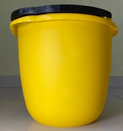 Ведро желтое пластиковое