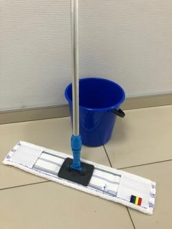 Синий комплект на 60 см - швабра флаундер моп ведро