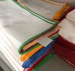 Цветные тряпочки из хлопка 4 штуки: красная, синяя, желтая, зеленая